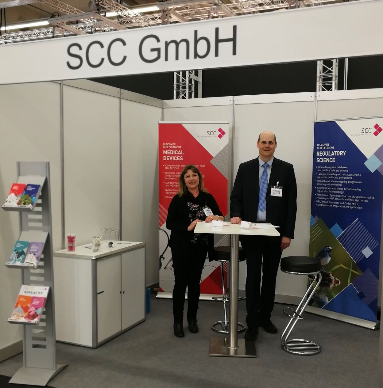 SCC booth at MedtecLIVE