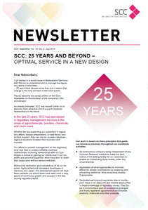 Vol. 14, No. 2 - SCC Newsletter Newsletter July 2014 / anniversary issue: 25 years SCC