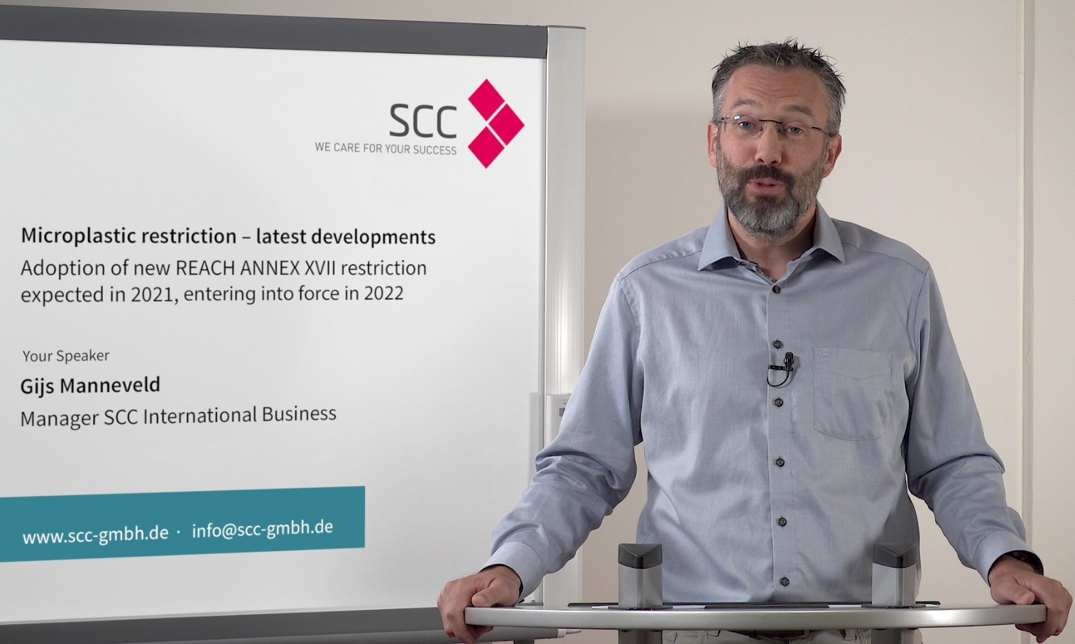 SCC video guidance on new and existing active substances